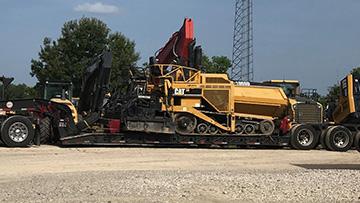 Transporting a 2006 Caterpillar 1055D Paver