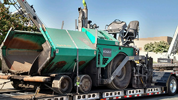 Shipping a 2007 Vogel 2116W Paver