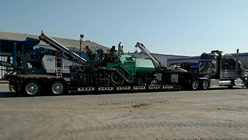 Transporting a 2007 Vogel 2116W Paver