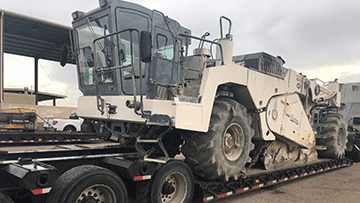 Transporting concrete equipment in Rhode Island
