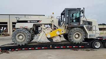 Transporting a 2011 Terex RS446 Road Reclaimer