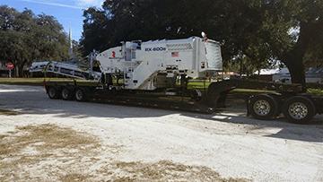 Roadtec RX-600e getting hauled