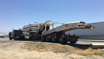 Terex PR600 Paving Equipment In Transport