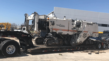 Wirtgen WR2200 Cold Recycler and Road Reclaimer In Transport