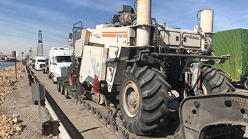 Wirtgen WE2500S Road Reclaimer In Transport