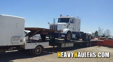 Peterbilt 348 dump truck shipped on a hotshot trailer