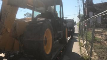JCB Telehandler Transported on an RGN Trailer