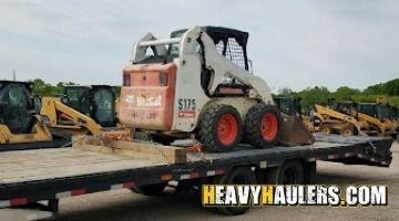 Bobcat skidsteer transported