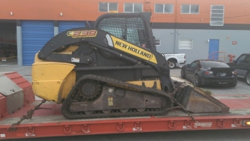 Shipping a New Holland skid steer
