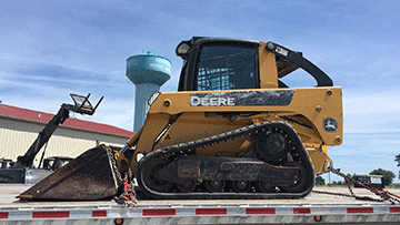 Skid steer shipping in North Carolina