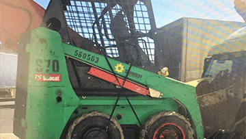 Bobcat S70 Skid Steer In Transport