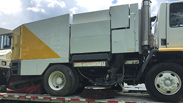 Shipping a street sweeper in Washington