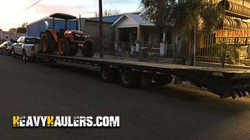 Transporting a 2011 Kubota M9540D tractor on a hotshot trailer services