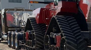 Tractor transport in South Dakota