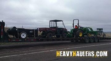 John Deere 3320 Tractor  on a Hotshot Trailer