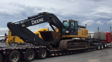 John Deere 350G LC Excavator transported from Humble, TX
