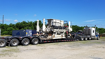 2005 Terex-CMI Asphalt Paver Shipped on an RGN Trailer