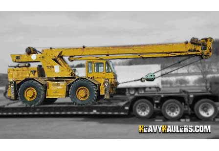 Heavy Haulers can handle shipping your Crane Truck