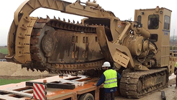 Construction Trencher Transportation