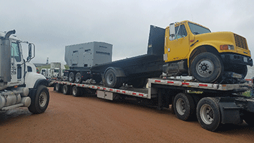 Transporting an International 4900 Cab and Chassis