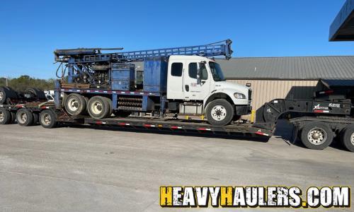 heavy duty truck transport on an rgn