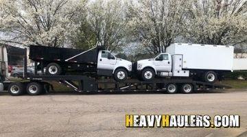 Shipping a dump truck in North Carolina