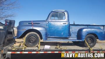 vintage pickup truck transport