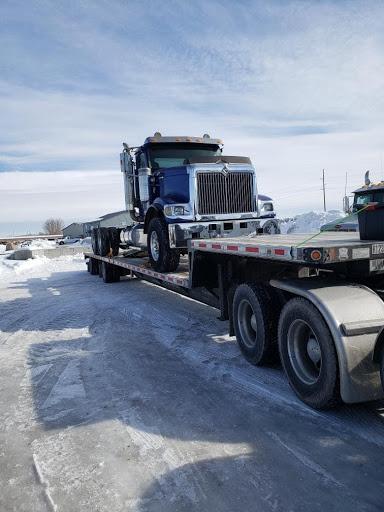 Hauling a semi truck in Nevada