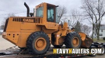 Case wheel loader shipped