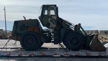 Case Wheel loader transport