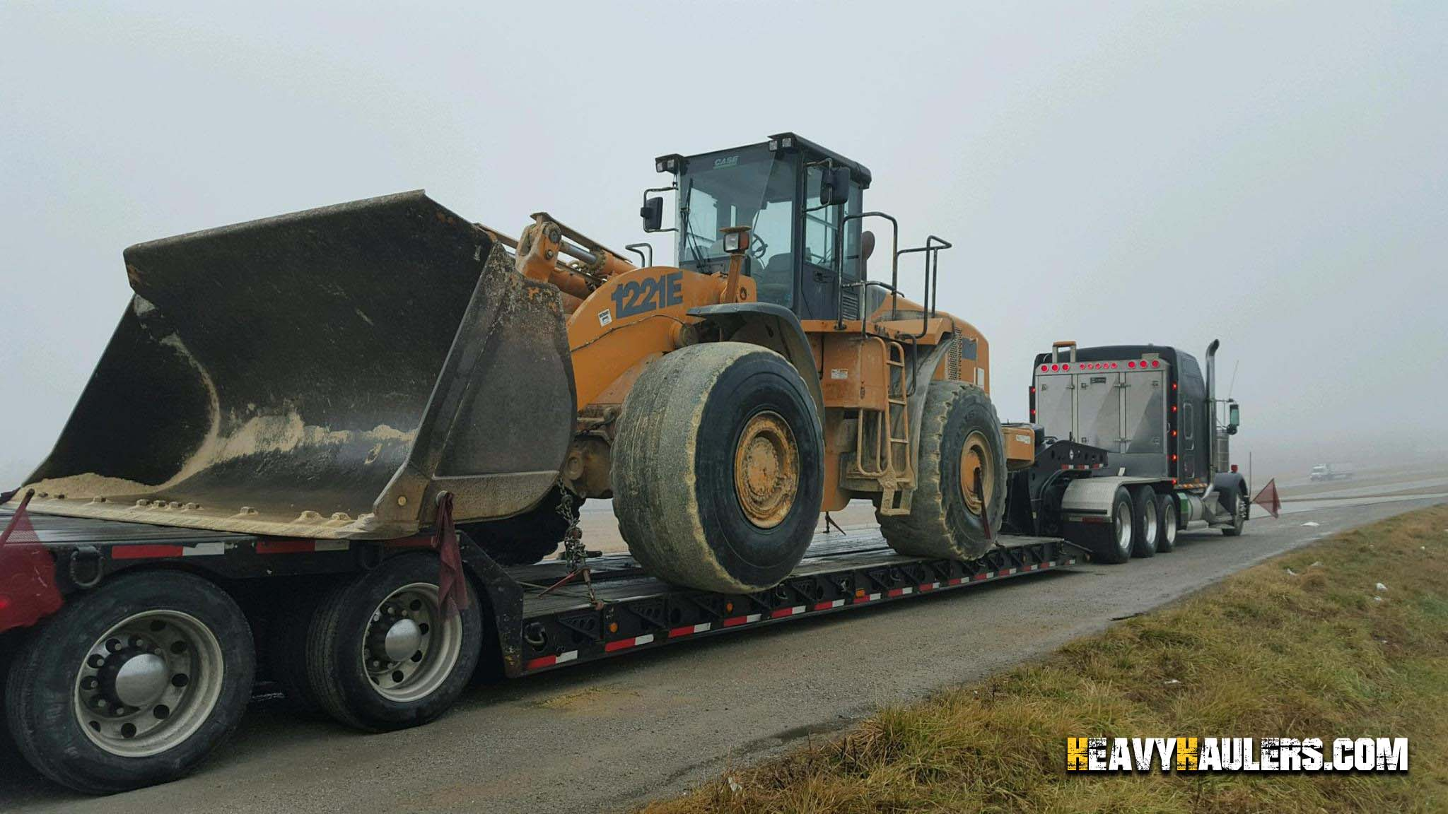 Case 1221E Wheel Loader Hauling