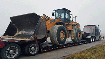 Wheel Loader Shipping