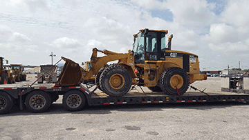Shipping a wheel loader in New Mexico