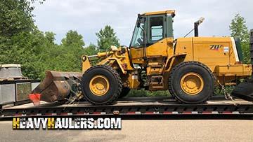 Wheel loader transport in Kansas