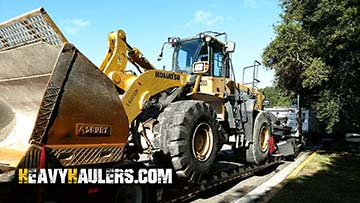 Komatsu WA500 6 Wheel Loader In Transport