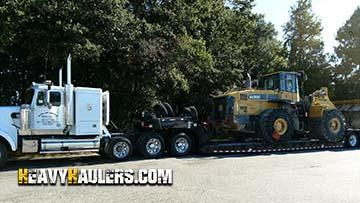 Wheel loader transport in Massachusetts