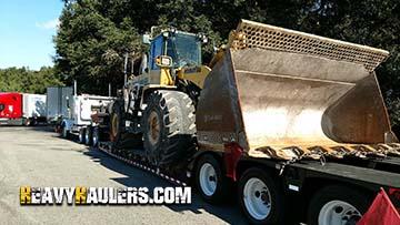 Transporting Komatsu Wheel Loader to Arkansas