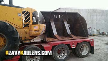 Volvo L120F Wheel Loader and High Tip Bucket Hauling