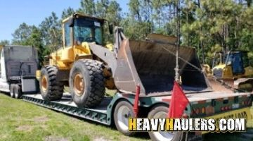Shipping a Volvo wheel loader