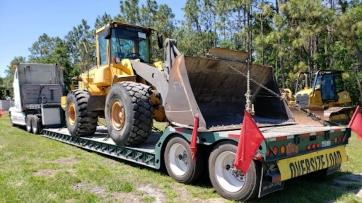 Shipping a Volvo wheel loader