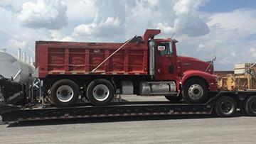 Volvo VHD Dump Truck In Transport